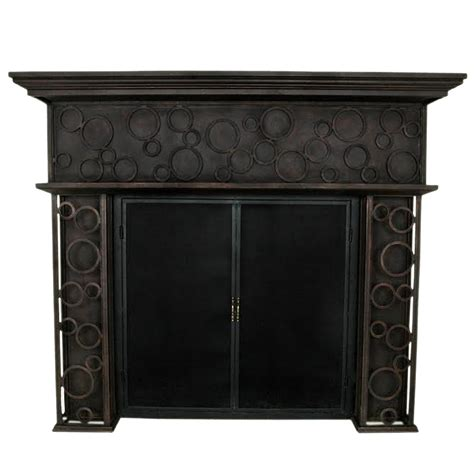Iron Fireplace Mantel by Frisco 2 Shelf Wrought Iron Fireplace Mantel