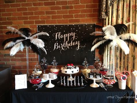 Kitchen Tea Gift Ideas For Guests black and white birthday backdrop little dimple designs