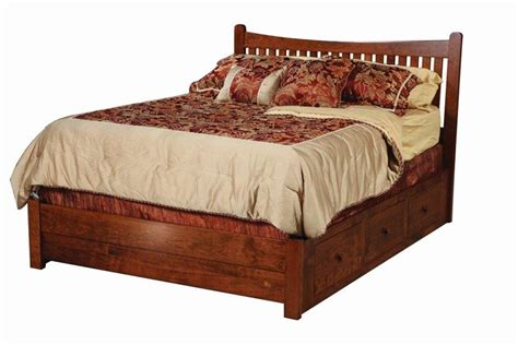 amish portland storage bed from dutchcrafters