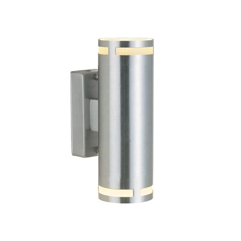 outdoor double wall light double cylindrical exterior wall light steel lighting