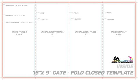 4 fold card template blank four fold brochure template free d