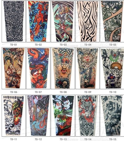 pattern tattoo oversleeve best wholesale new 2015 sport cycling long nylon stretchy