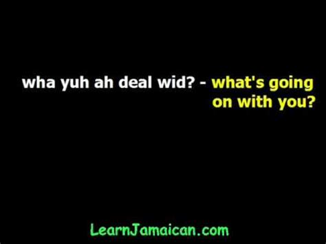how to greet in jamaican patois language