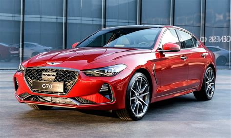 new genesis sedan genesis g70 compact sports sedan arrives to battle bmw 3