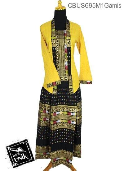 Melvina Set Songket Busana Muslim Setelan Atasan Dan Rok Songket baju batik sarimbit setelan family motif songket tumpal gamis batik murah batikunik
