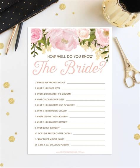 bridal shower how well do you the and groom how well do you the bridal shower