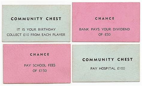 chance and treasure chest card monopoly template wwii australian monopoly