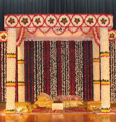 flower Square mandap   Decorations & weddings   Wedding