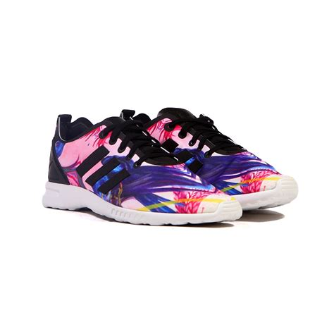 adidas zx flux shoes adidas zx flux smooth black white multicolor
