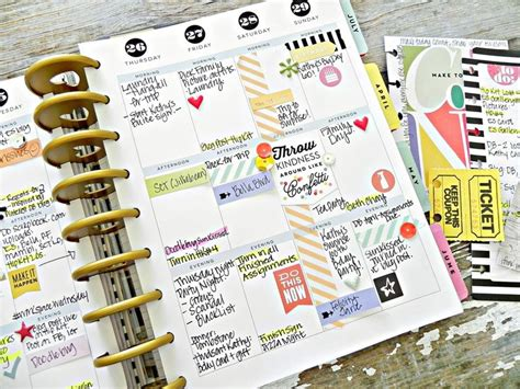 make every day a weekly planner for creative thinkers with techniques exercises reminders and 500 stickers to do books create 365 the happy planner happy planner spreads