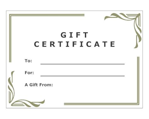 free printable gift certificate templates online free gift