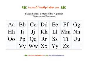 big amp small alphabet letters black lined