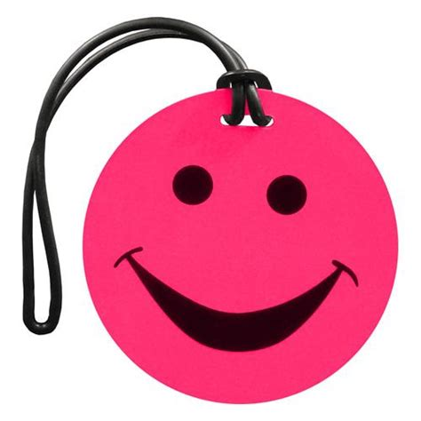 Smiley Face Luggage Tags   Travel Accessories by Global