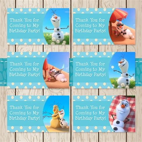 olaf printable gift tags free printable olaf labels party invitations ideas