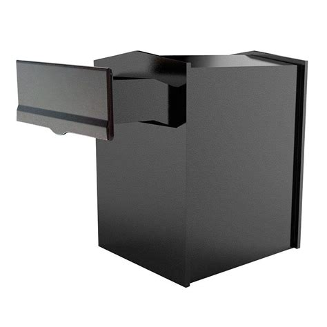 qualarc wall mount locking mailbox alx 200 rd the