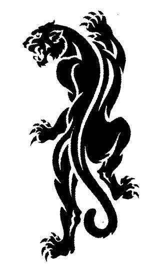 tribal panther tattoo pin by on printable s