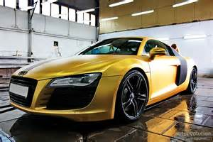 matte gold audi r8 in russia photo gallery autoevolution