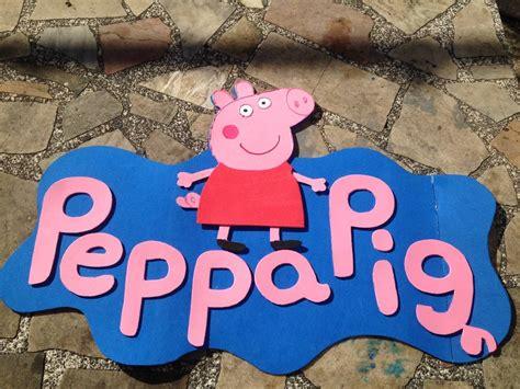 Carteles De Cumpleaos De Pepapig | cartel peppa pig en goma eva cotillon cumplea 241 os