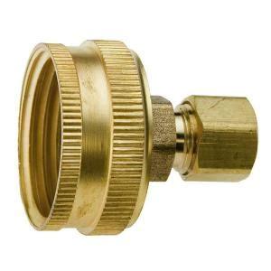 everbilt lead  brass garden hose adapter   fht