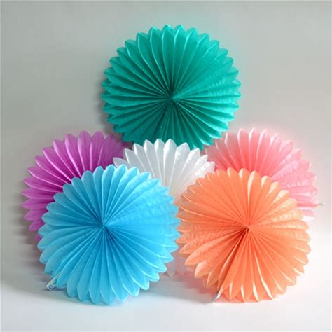 How To Make Paper Fan Flowers - decorative crafts 20cm 1pcs flower origami paper fan