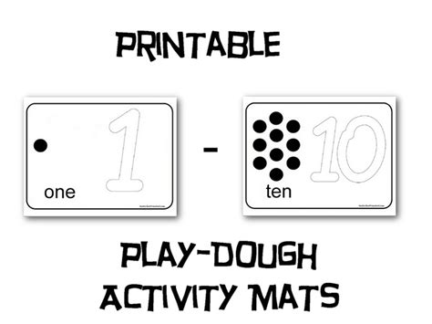 printable playdough number mats preschool math resources