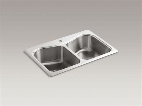 kohler staccato stainless steel kitchen sink standard plumbing supply product kohler k 3369 1 na