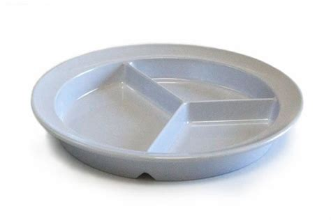 dinner dish partitioned scoop dinner plate adapted divided dish