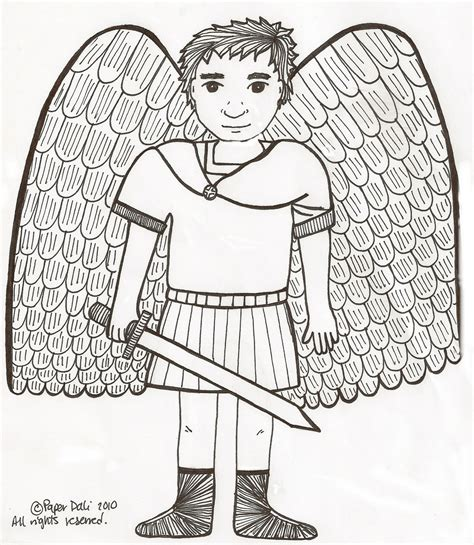 paper dali saint michael the archangel el arc 225 ngel san