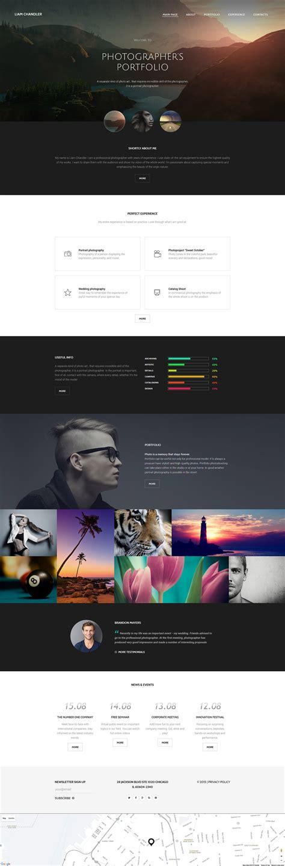 Photographer Portfolio Website Template Photography Portfolio Website Templates Free