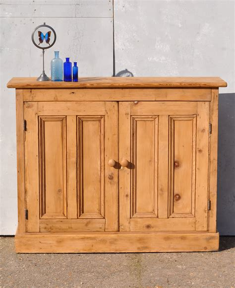 Pine Cabinet Door Reclaimed Pine Two Door Console Cabinet