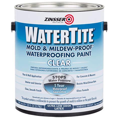 watertite clear waterproofing paint rust oleum