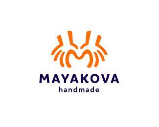 Handmade Logo Inspiration - logopond logo brand identity inspiration mayakova