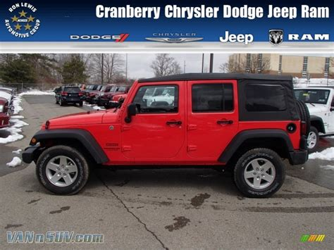 jeep unlimited red 2013 jeep wrangler unlimited sport s 4x4 in rock lobster