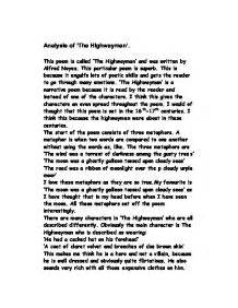 The Highwayman Essay by Analysis Of The Highwayman Gcse Marked By Teachers