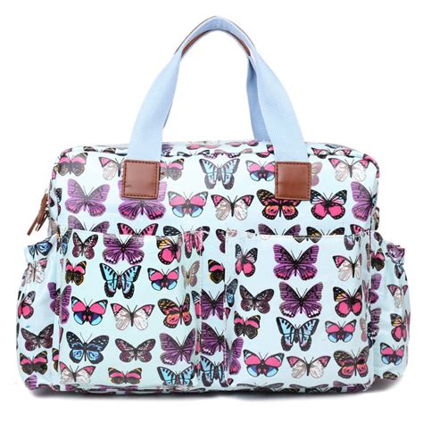 Butterfly Bag l1501b miss lulu maternity baby changing bag butterfly blue