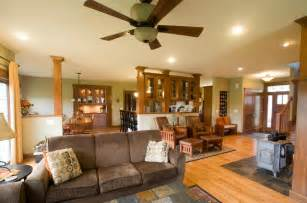 Craftsman style home traditional living room other