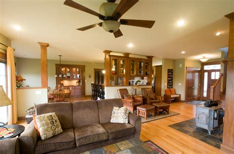 craftsman style living rooms craftsman style home traditional living room other