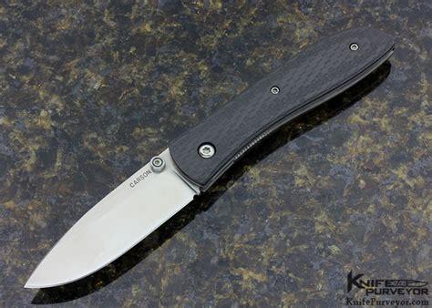 carson knife kit carson model 4 carbon fiber linerlock knifepurveyor