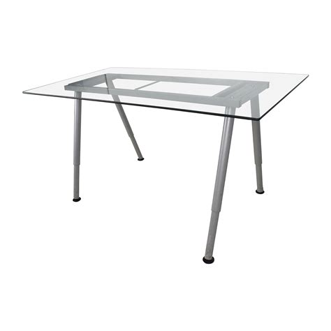 glass top tables with metal base 64 glass top trestle table with metal base tables