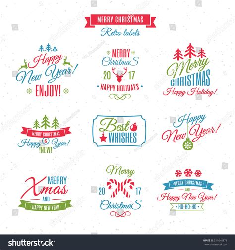 gift vector label elements webbyarts labels elements vector set color style with