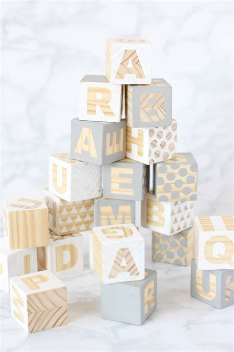 baby shower babies for cubes wooden baby blocks babyshower craft diy sweet