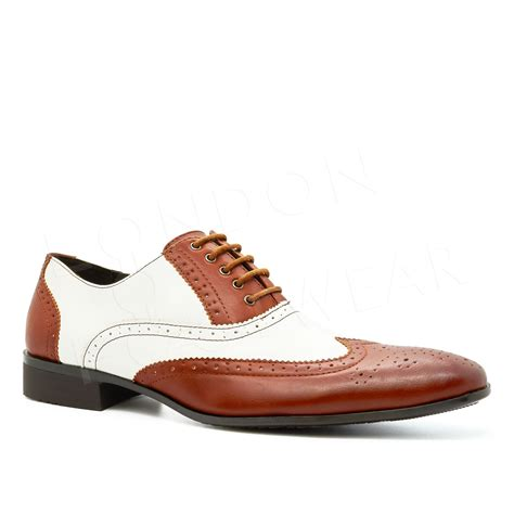 two tone mens shoes new mens two tone oxford brogues lace up formal gangster