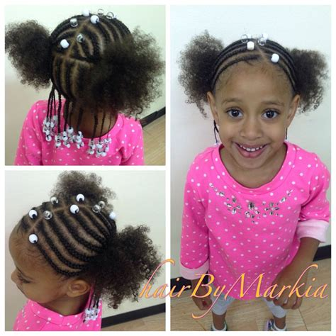 braided mixed babies little mixed girl hairstyle braids and beads ponytail