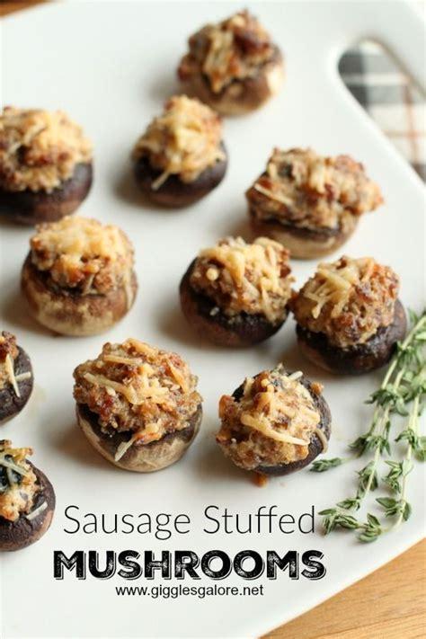 mushroom appetizers ideas  pinterest