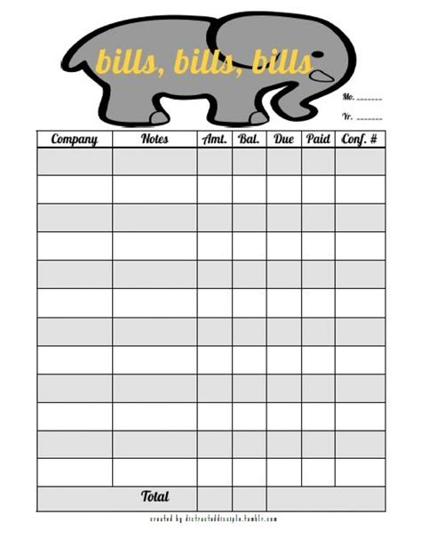 monthly organiser template blank monthly bill organizer printable 2018 calendar