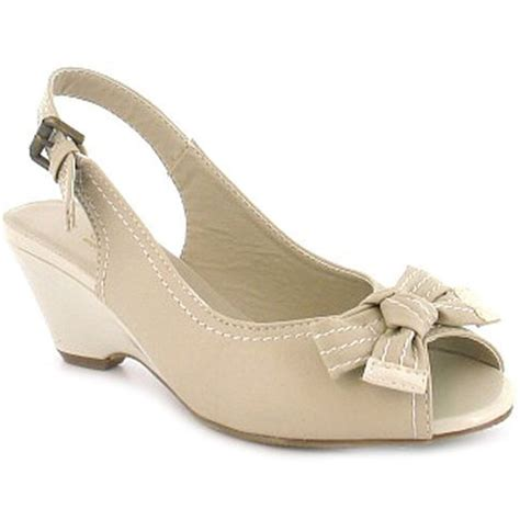 sandal heels for wide open toe bow low heel wedge wide fit sling