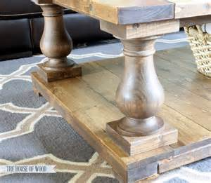 Coffee Table Wooden Legs Diy Balustrade Coffee Table Plans From White House Of