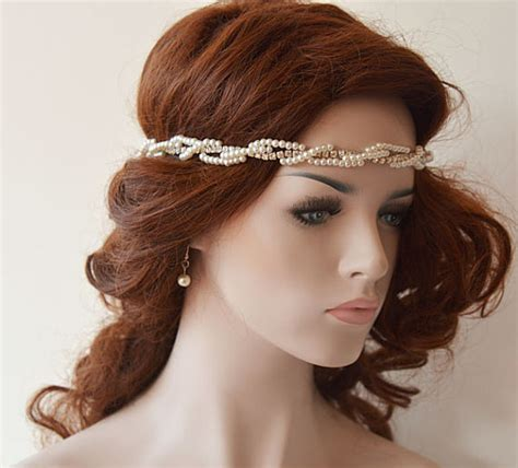 Wedding Hair Accessories Headbands by Wedding Headbands Bridal Headband Wedding Pearl Hair