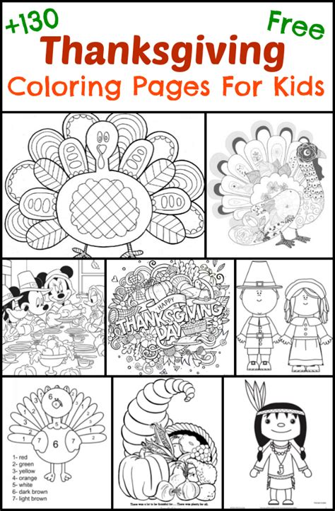 free printable thanksgiving crafts and activities 130 thanksgiving coloring pages for kids the suburban mom
