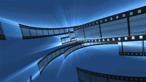 wallpaper blue movie blue film strips movie clips video background hd0920